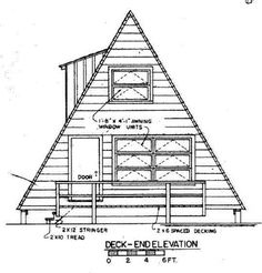 A-Frame House Plans Deck side Picture