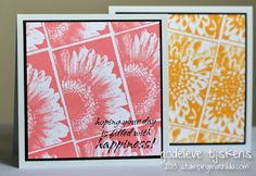 Cards by Godelieve Tijskens using Darkroom Door Bright Blossoms Vol 1 Rubber Stamps DDRS107.
