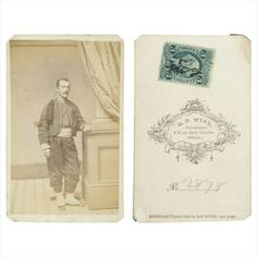 Collis Zouave Carte De Visite This Is A Nicely Posed View Of Member