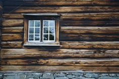 Dark timbered wooden wall with window by Edgieus on @creativemarket
