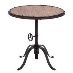 Casa Cortes Handcrafted Industrial Round Accent Table - 15442000 - Overstock.com Shopping - Great Deals on Casa Cortes Coffee, Sofa & End Tables