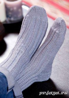 Вязка спицами мужских носков