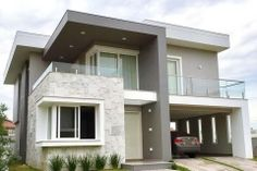 modern-exteriors-14 Modern Exterior House Designs, Exterior House Colors, Modern House Design, Exterior Design, Plans Architecture, Independent House, Beautiful House Plans, My House Plans, House Front Design