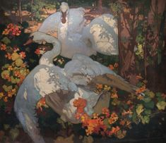 piquantpaint:  The Swans (1921). Frank Brangwyn. Oil on canvas. William Morris Gallery.