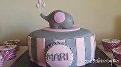 Bolo Elefantinha e Cupcake Elefantinha
