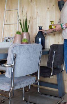 bol.com | Zuiver Ridge Rib - stoel - blauw | Wonen