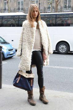 #shearling #coat #streetstyle
