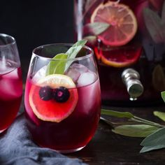 Looking to impress your guests? This blueberry gin and sage punch is just what you need.