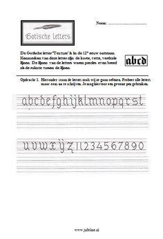 Schrijven Bovenbouw - Juf Eline - Lesideeën Basisonderwijs Medieval Fantasy, Middle Ages, Spelling, Language, School, Calligraphy, Education, Escape Room, Gothic Writing