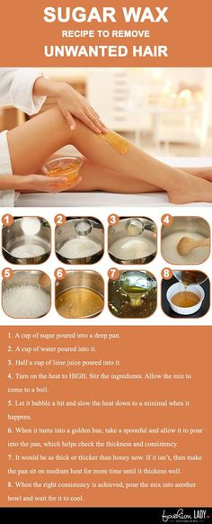 Sugar Wax Recipe To Remove Unwanted Hair