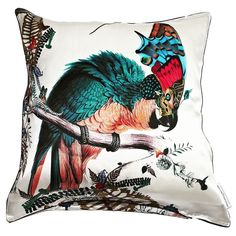 How about another cushion to hypnotise us us all? From the lovely @kristjanaswilliams and available from #screamcreations (link in bio). #interiordesign #home #style #exotic #birds #cushion #artist #design #textiledesign #printedtextiles #homedecor #housedesign #luxury