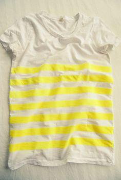 Un tee shirt neon DIY