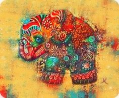 Vintage Elephant Painting by Karin Taylor - Vintage Elephant Fine Art Prints and Posters for Sale Vintage Elephant, Indian Elephant, Elephant Love, Colorful Elephant, Elephant Artwork, Elephant Poster, Elephant Canvas, Elephant Paintings, Elephant Wallpaper