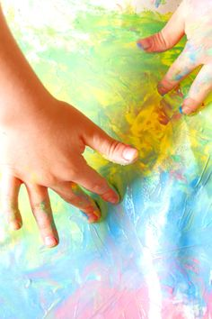 Make paint for kids that is taste-safe with this easy recipe! #babypaintingideas #babypaintrecipe #tastesafepaint #fingerpaintingideasforkids #growingajeweledrose Finger Painting For Kids, Baby Painting, Home Made Paint For Kids, Baby Art Activities, Edible Finger Paints, How To Make Paint, Play Food, Toddler Preschool, Nursery
