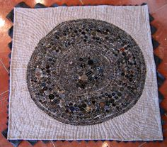 incredible button art by Lauren Levy - the place where we once found arrowheads