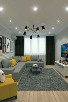 Best Living Room Color Schemes Idea - design for building . Best Living Room Color Schemes Idea - design for building ., Best Living Room Color Schemes Idea - design for building . Living Room Stands, Classy Living Room, Living Room Grey, Living Room Interior, Lights For Living Room, Home Living Room, Living Room Decor Colors Grey, Living Room Decor Yellow And Grey, Yellow Living Room Accessories