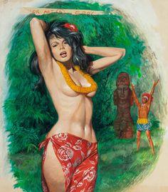 Lady of the Jungle, Men's Adventure Magazine cover