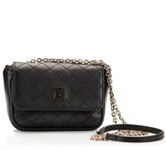 Coccinelle MINIBAG Black quilted leather chain mini shoulder bag
