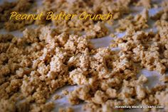 Peanut Butter Crunch, Trim Healthy Mama Friendly - Add of water to original recipe to help clump together. If turns out too crumbly add to Skinny Chocolate for peanut crispy chocolate bars! Trim Healthy Recipes, Trim Healthy Momma, Thm Recipes, Snack Recipes, Breakfast Recipes, Breakfast Ideas, Breakfast Dessert, Free Recipes, Breakfast Dishes