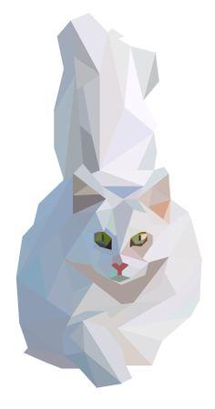 Cat Geometric Art | pinterest.com/emilylan752