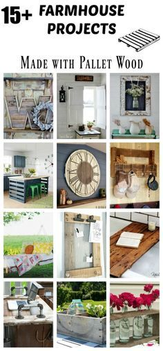 Create your own inexpensive farmhouse style decor with these 15+ DIY project ideas that are all made with free pallet wood!