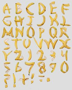 Banana font.