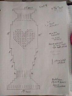 Little heart vase pattern