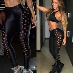 Women's Hollow Design Fitness Leggings