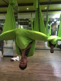 Aerial yoga - maybe a fun opening meditation for an advanced class?