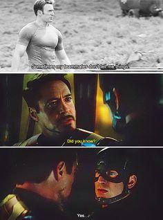 """Keeping something secret, Steve?? (""""Captain America: Civil War"""" - Steve Rogers and Tony Stark)"""