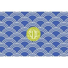Personalized Scallop Pattern Monogrammed Serving Tray from Shelby Dillon Studios. For all your colorful home style needs, shop ShelbyDillonStudios.com.