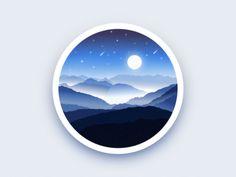 Mountains badge