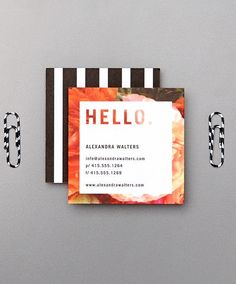 Show off your elegance with personal business and contact cards. | Tiny Prints