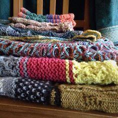 Packing up samples before I leave to teach this weekend #littlenutmegproductions #meghanjoneslnmp #knit #knittingaddict #knits #knitting #knitting_inspiration #knitted #knitlove #knitters #knittersofig #knittersoftheworld #knittersofinstagram #makersofinstagram #knitdesign #knitdesigner #design #designer #yarn #yarnaddict #yarnlove #yarnlover #yarnsofinstagram #knittingteacher #cestariyarns #ancientartsyarn #slippedstsandmightyholes #wildbeastsonthehorizon #cowlsgoround
