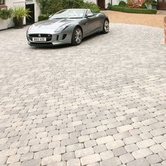 Brett Paving Manmade 'Aura' Silver Fleck-BLOCK PAVING One of our personal favourite paved driveway b
