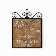 WELCOME PERSONALIZED DOOR PLAQUE