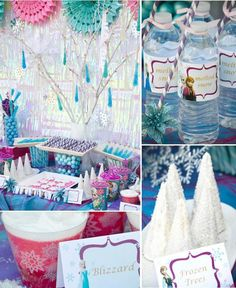 Disney's Frozen themed birthday party full of ideas! Via KarasPartyIdeas.com #frozen #frozenparty
