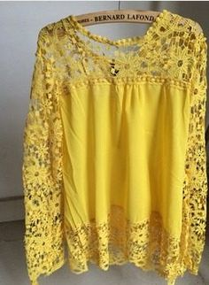 blusa plus size em chifon e renda grippir manga comprida
