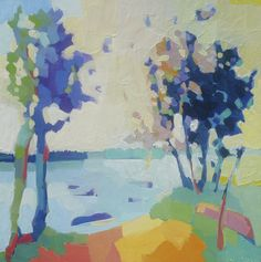 """Off Flying Point #2"" by Henry Isaacs Oil 30"" x 30"" Available at Maine Art Paintings and Sculpture"