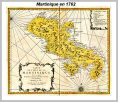 Carte de la martinique 1762