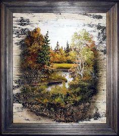 Artist Sergey Surin, painting on birch bark http://xn--80aadqaaqo3aa4agofj0l.xn--p1ai/galery.html