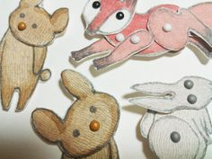 movable easter bunny paper doll woodland animal paper dolls puppets patterns articulated 6940