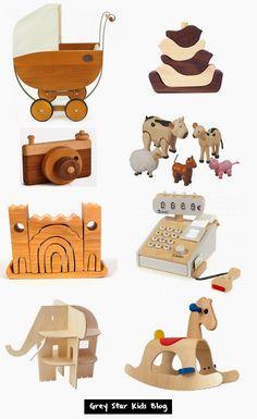 Wooden Toys // Toddler Toy Ideas // via Grey Star Kids Blog
