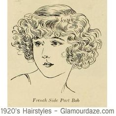 Vintage Hairstyles Vintage Cafeteria ♥ : Jak Gatsby, to Gatsby na całego! Curly Hair Drawing, Traditional Tattoo Flash, Short Bob Haircuts, Retro Hairstyles, Wedding Hairstyles, How To Draw Hair, Glamour, Retro Vintage, Retro Hair