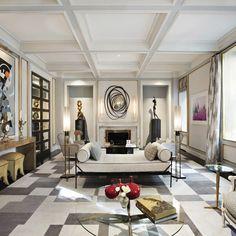 Jean Louis Deniot interiors #modernlivingroom #livingroomdecor take a look at http://diningandlivingroom.com/
