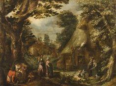 Rustic landscape, by Karel Van Mander Baroque, Dutch, Van, Rustic, Landscape, Painting, Shop Signs, Country Primitive, Scenery