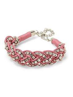 Tinley Road Braided Pink Friendship Bracelet   Piperlime