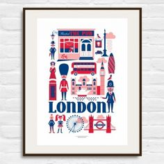 London Print   Modern Stationery, Greeting Cards, Textiles, Gifts and Prints   Lagom - Neeed ♥ - Shop is all you Neeed !