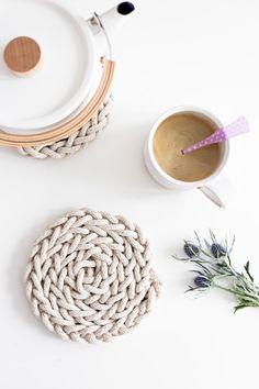 Finger Knit Trivet-6150