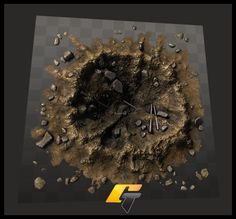 Image result for blast crater diorama